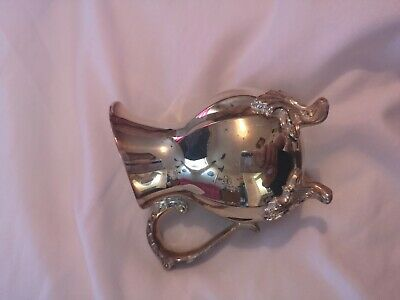 Small Silver Plated Decorated  Milk Jug