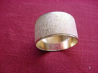 1 Napkin Ring Silver Plated Unmarked Ø 1 11/16x1in