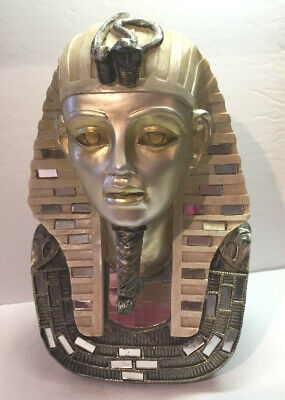 Egyptian Pharaoh King Tut Bust 10""