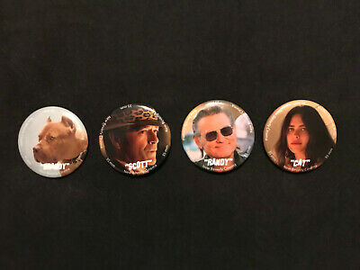 Once Upon A Time In Hollywood 4 Button Set NEW BEVERLY CINEMA  BRANDY RANDY CAT
