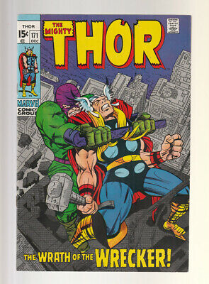 Thor # 171  The Wrath of the Wrecker !  grade 9.0 scarce book !