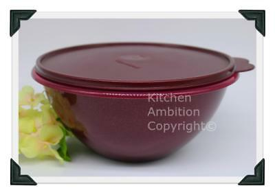 Brand New TUPPERWARE Large Wonderlier® 10+ Cup Mixing Bowl Sparkling Merlot #E3