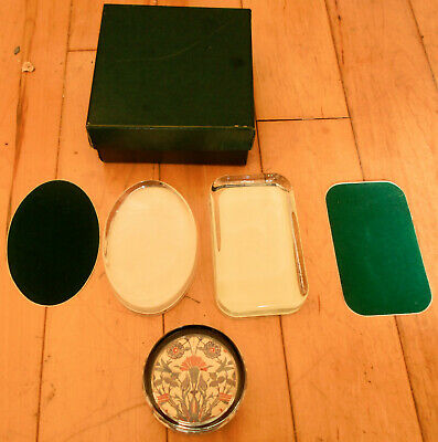 PAPERWEIGHT BLANKS x 3 OVAL RECTANGLE ROUND CRAFT