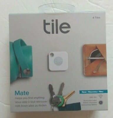 Tile Mate Bluetooth Tracker 4 Pack White