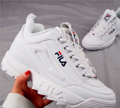 2019 Hot FILA Disruptor II 2 White Authentic Sports Shoes Unisex Size eur35-44