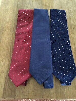 Kleidung Accessoires Austin Reed Padded Blue Red Striped 3 75 Inch Silk Neck Tie Omnia Ae