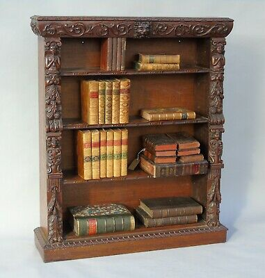Fabulous Victorian Carved Oak Dwarf Bookcase