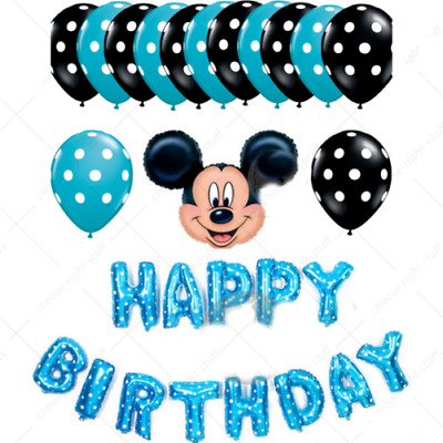 Happy birthday foil balloons Mikkimouse mini mouse birthday Baloons Birth day