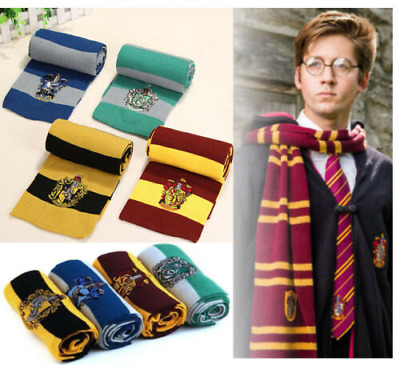 Harry Potter Scarf Gryffindor-Slytherin-Hufflepuff-Ravenclaw Xmas Gift Cosplay p