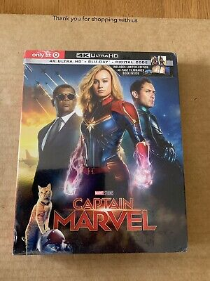 Captain Marvel 4K UHD Blu-Ray Digibook Target Exclusive NEW & SEALED Region Free