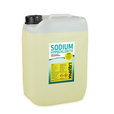 Sodium Hypochlorite 14-15 20L Patio Cleaner / Swimming Pool Chlorine  20 Litre