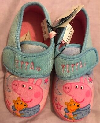 Peppa Pig Slippers Size 11 Peppa Pig Girls Pink Slippers Christmas Gift Present