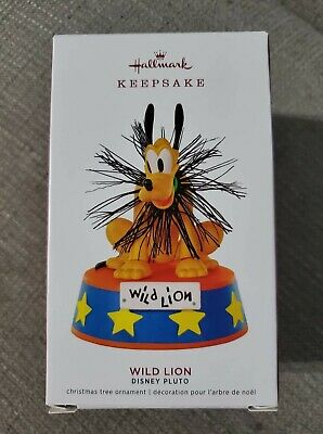 HALLMARK ORNAMENT LIMITED EDITION 2019 Disney Wild Lion Pluto Mickey Mouse