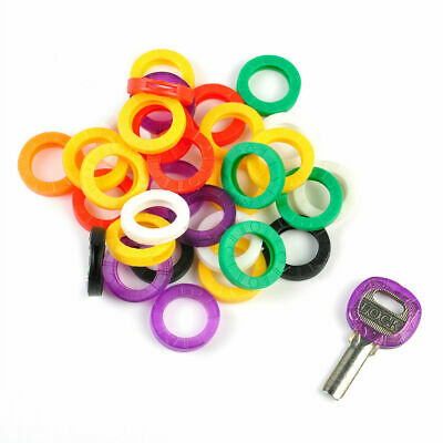 100 x COLOUR KEY CAP COVERS * ID MARKERS * MIXED COLOURS RINGS