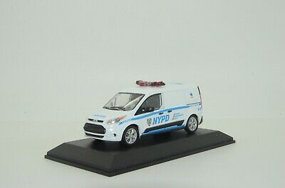 Rare !! Ford Transit Connect NYPD Police Custom Made 1/43