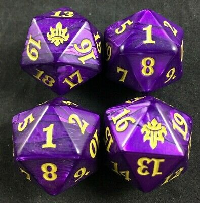 Magic D20 Throne of Eldraine Fat Pack Bundle OVERSIZED Spindown Dice lot of 4