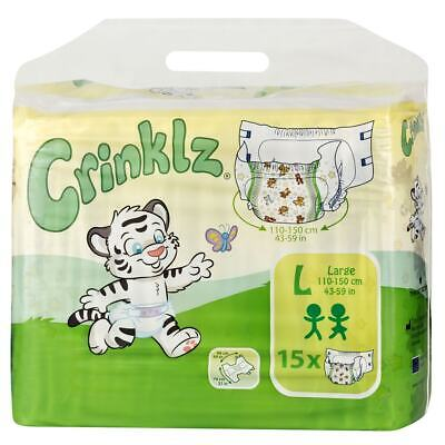 Crinklz Adult Disposable incontinence Nappies / Diapers