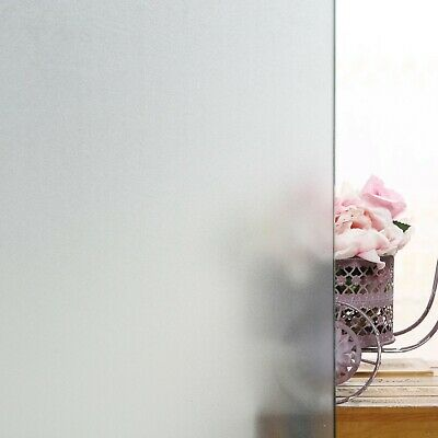 Frosted Privacy Window Film Static Cling  Mate White For Home Office Bath