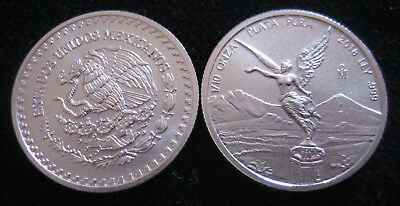 Mds Mexique Mexico Libertad 2018, 1/10 Once Argent