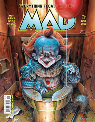 Mad Magazine Dec 2018 Issue 10 It Cover Nice Condition Rare Alfred As Pennywise