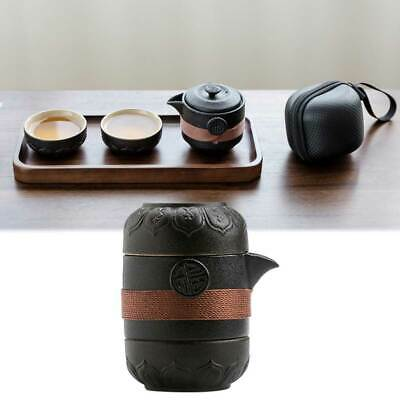 Portable Tea Set For Travel Filter Cup Ceramic Pottery Tea Pot Cup Carry Bag New
