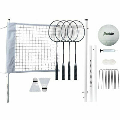 Franklin Professional Range Badminton / Beach Volleyball Combo Set w/ Carry Bag