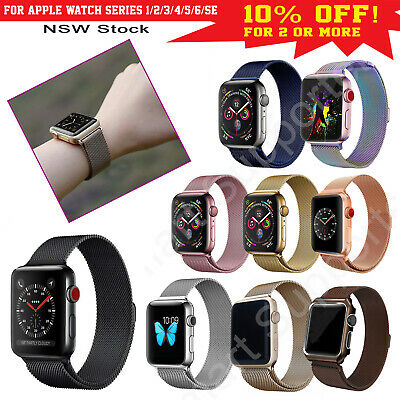 Apple Watch Band Series 5,4,3,2,1 Milanese Magnetic Stainless Steel iWatch Strap