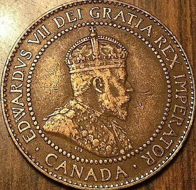 1910 Canada Large Cent Penny Large 1 Cent