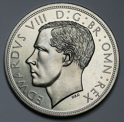 New Zealand Fantasy Crown Edward VIII Nickel Silver Coin - Only 12 Minted