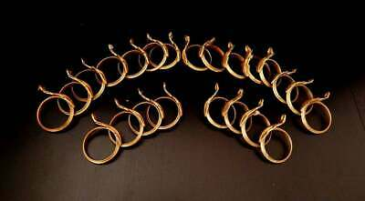 Antique French Bronze Curtain Rings 22 Rings Very 'Shabby'