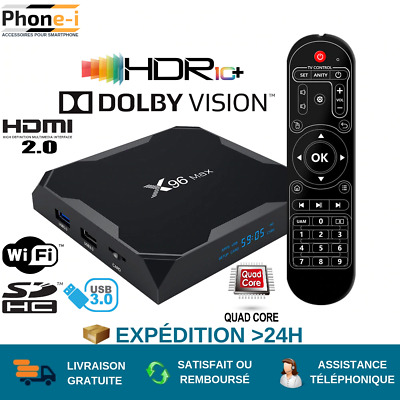 2019 NEW X96 MAX Android 9.0 Smart TV Box Quad Core HDR+ 4K MEDIA HDMI WI-FI