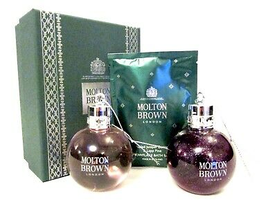 MOLTON BROWN Fabled Juniper Berries & Lapp Pine Bath Salts Baubles giftset (B1A)