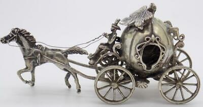 Vintage Solid Silver Italian Made Large Royal Chariot Hallmarked Miniature