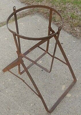 Old Tilting Wrought Iron Glass Water Bottle Holder - Or Re-Purpose