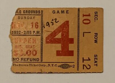 1952 Green Bay Packers vs NY Giants Football Game Ticket Stub Antique Vintage