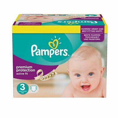 Lot 360 couches PAMPERS active fit taille 3 (3*120