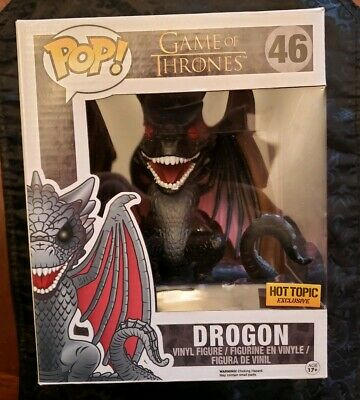 """Funko Pop! Game Of Thrones Drogon #46 6"""" Inch Hot Topic Exclusive Red Eyes"""
