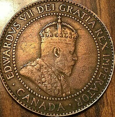 1910 Canada Large Cent Penny Large 1 Cent Coin