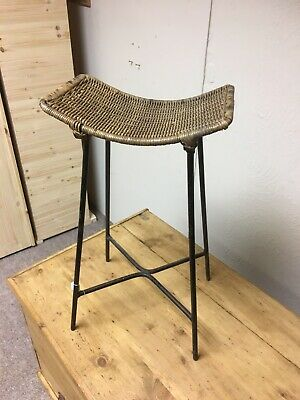 antique hungarian stool Vintage Rustic European Collectable Industrial