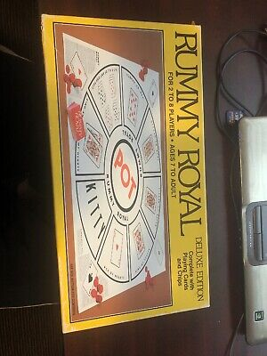 Vtg Whitman Rummy Royal Deluxe 1981 Card Game Small Chips -