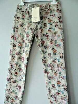 """Quality MAYORAL Girls """"Floral Patterned"""" Trousers Multi (4556) Age 8 Cotton NWT"""