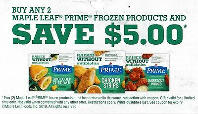 save on MAPLE LEAF chicken meat coupons $25 + Bonus [Canada]