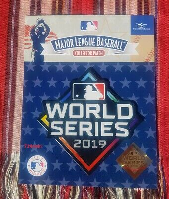Official 2019 MLB World Series Patch Washington Nationals vs Houston Astros