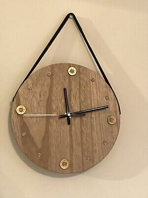 Handmade Wooden Cartridge, Shotgun Shell Clock,