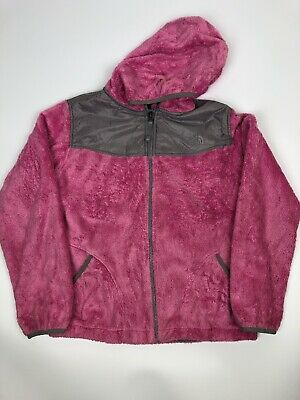 The North Face Pink Hooded Fleece - Girls XL