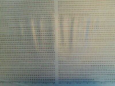 LETRASET Dry Rub On Transfers LETTERS & NUMBERS ISONORM 2.5mm (#3212) NEW