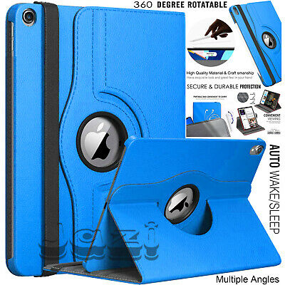"""New Stand Leather Case For Apple iPad 10.2"""" 2019 360 Rotate Cover 7th Generation"""