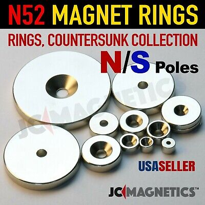 N52 Super Strong Ring Countersunk Rare Earth Neodymium Magnets Fridge Crafts DIY