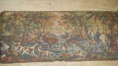 "Very Large Woven tapestry ""THE HUNT"" 168cms x 69cms (66"" x 27"")"