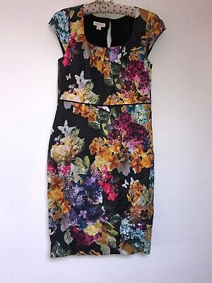 Beautuful Monsoon Floral Evening. Party Dress VGC Size Uk14
